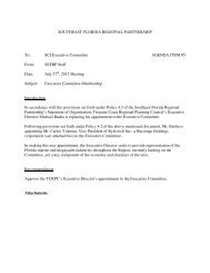 SCI Executive Committee AGENDA ITEM #5 From - South Florida ...
