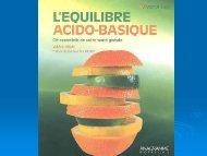 L'équilibre acido-basique