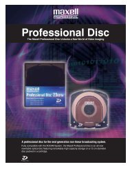 Professional Disc - Maxell Canada