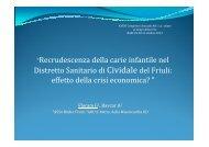 5 Recrudescenza della carie infantile nel Distretto Sanitario di ...