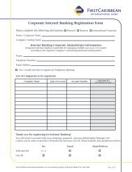 Corporate Internet Banking Registration Form - FirstCaribbean ...