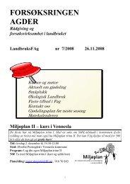 Medlemsblad nr 7 - Norsk Landbruksrådgiving Agder