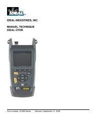 Technical Manual IDEAL OTDR French - Trend Communications Ltd.