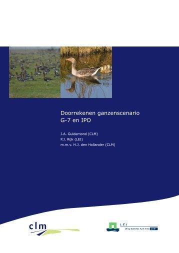 Rapport Doorrekenen ganzenscenario G-7 en IPO - Clm