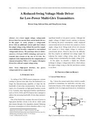 A Reduced-Swing Voltage-Mode Driver for Low-Power Multi ... - JSTS