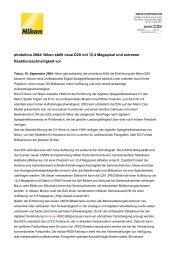 photokina 2004: Nikon stellt neue D2X mit 12,4 Megapixel und ...