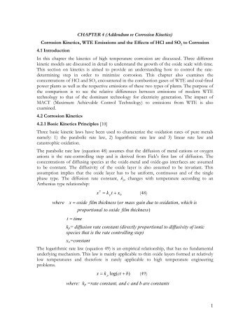 1 CHAPTER 4 (Addendum re Corrosion Kinetics) Corrosion Kinetics ...