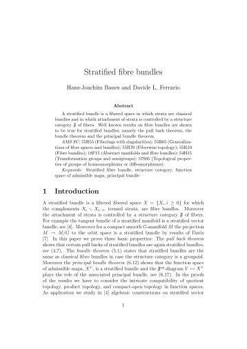 Stratified fibre bundles