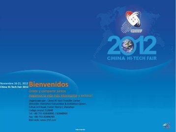 CHINA HI-TECH FAIR 2012 Noviembre 16-21 Shenzhen ...