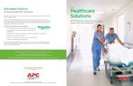 IT Healthcare Solutions Brochure - Schneider Electric