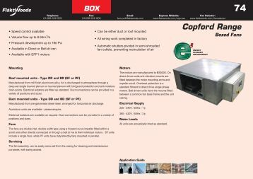 Express Range Brochure - Box Fans - Angus Air