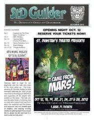 Oct 2012 - St. Dunstan's Theatre