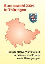 Europawahl 2004 in Thüringen, Repräsentative Wahlstatistik für ...