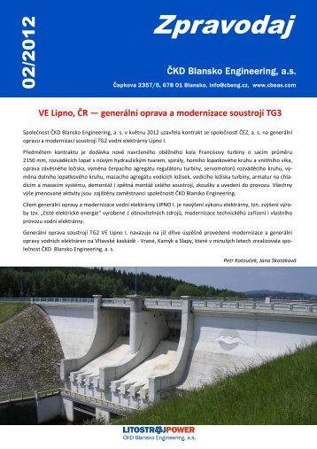 zpravodaj 2012_02... - ČKD Blansko Engineering as
