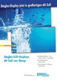Steglos-LCD-Displays 60 Zoll von Sharp - Gahrens + Battermann