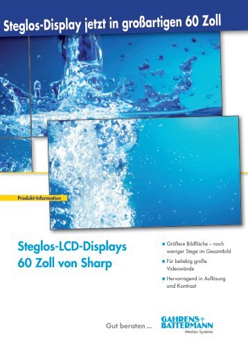 Steglos-LCD-Displays 60 Zoll von Sharp - Gahrens + Battermann