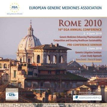 EUROPEAN GENERIC MEDICINES ASSOCIATION - Assogenerici