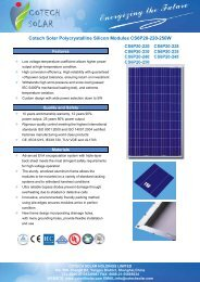 Page 1 COTECH SOLAR HOLDINGS LIMITED No. 580, Zhengli Rd ...