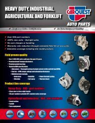 Heavy Duty, InDustrIal, agrIcultural anD ForklIFt - CARQUEST Auto ...