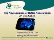 Neuroplasticity… - National Association of Social Workers