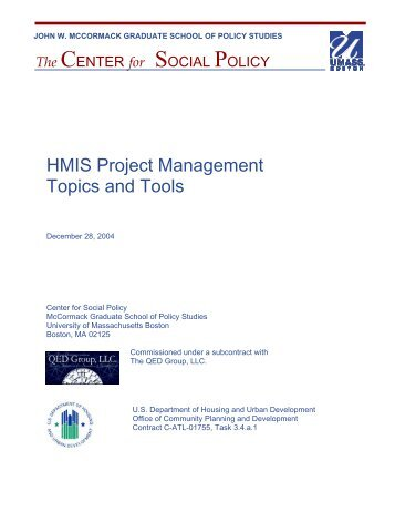 HMIS Project Management Topics and Tools - OneCPD