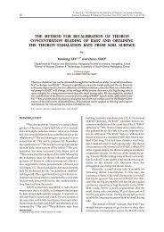 THE METHOD FOR RECAL I BRA TION OF THORON ... - doiSerbia