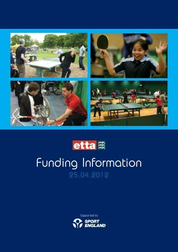 Funding Information - The English Table Tennis Association
