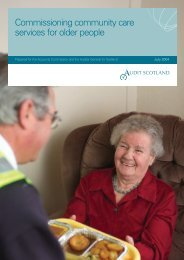 Commissioning community care services for older ... - Audit Scotland