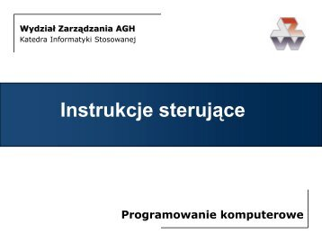 Case - Katedra Informatyki Stosowanej - AGH