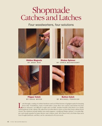 Shopmade Catches and Latches