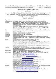 Wachstums- und Kapitaltheorie - Wiwi Uni-Frankfurt