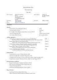 Curriculum Vitae - Wiwi Uni-Frankfurt - Goethe-Universität