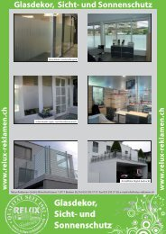 Glasdekor, Sicht- und Sonnenschutz