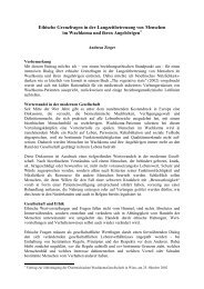 Ethische Grenzfragen in der Langzeitbetreuung von Menschen im ...