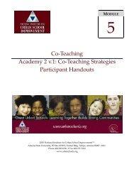 Co-teaching Strategies - NIUSI Leadscape