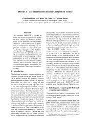DISSECT - DIStributional SEmantics Composition Toolkit - clic-cimec
