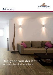 Prospekt Wicanders Artcomfort (PDF) - Das Korkparkett