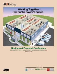 Working Together for Public Power's Future - American Public ...