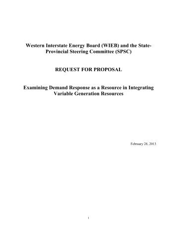Request for Proposal (RFP) - Western Governors' Association