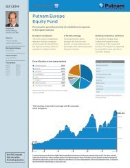 Europe Equity Fund Fact Sheet - Putnam Investments