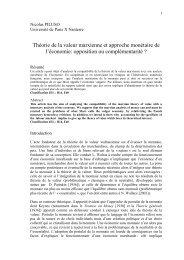 Théorie de la valeur marxienne et approche monétaire ... - EconomiX