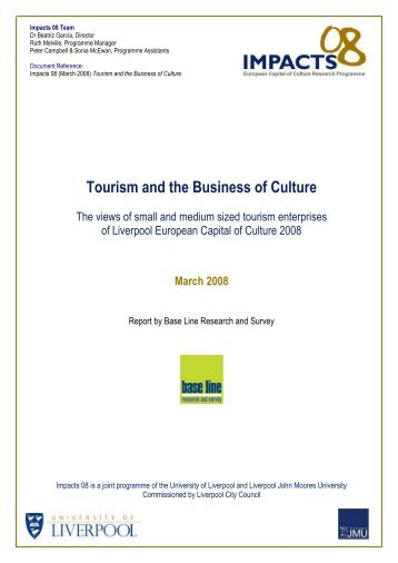 Tourism and the Business of Culture - University of Liverpool