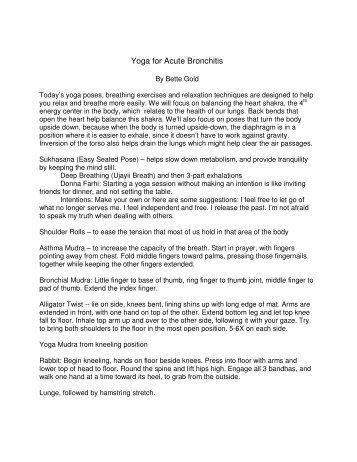 Yoga for Acute Bronchitis - Living Room Yoga