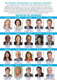 Stand Up for Epilepsy! - International Bureau for Epilepsy