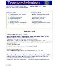 Bulletin n° 5 du 16-12-2008 - Réseau Amérique Latine
