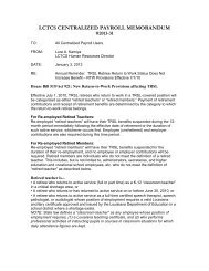Memo 2013.31 TRSL Retiree Return to Work Status Not Increased ...