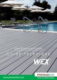 Guide technique - Terrasse en bois composite Wex - Piveteau Bois