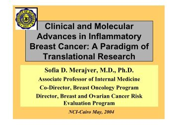 Clinical and Molecular Advances in Inflammatory Breast Cancer - NCI