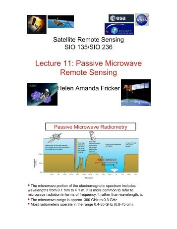 Lecture 11: Passive Microwave Remote Sensing