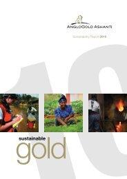 Sustainable Gold - AngloGold Ashanti